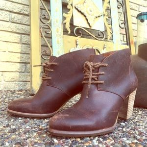 Brown Leather UGG Booties